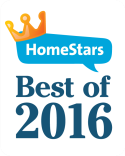 HomeStars Best of 2016 badge